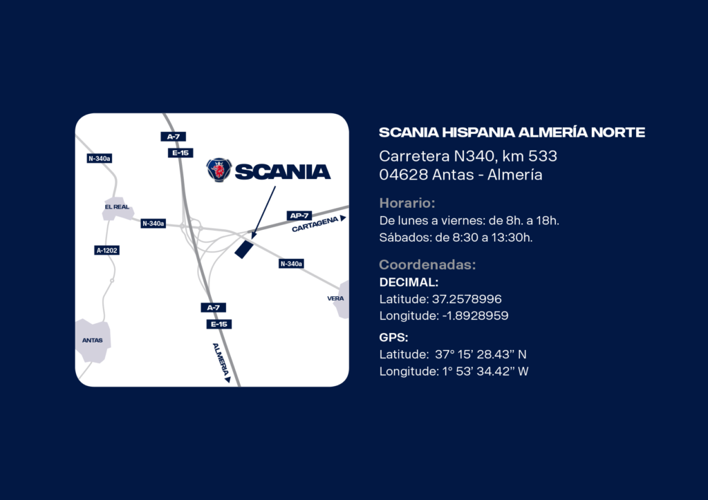Scania nuevo concesionario Almería