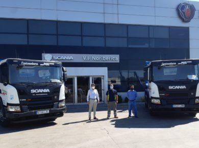 Contenedores MAI incorpora dos vehículos Scania propulsados por GNC